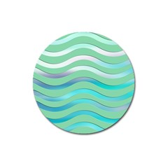Abstract Digital Waves Background Magnet 3  (round)