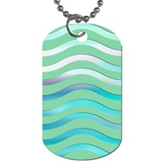 Abstract Digital Waves Background Dog Tag (one Side)