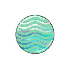 Abstract Digital Waves Background Hat Clip Ball Marker (10 Pack)
