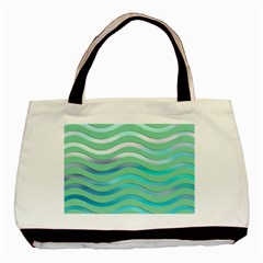 Abstract Digital Waves Background Basic Tote Bag