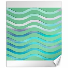 Abstract Digital Waves Background Canvas 8  X 10