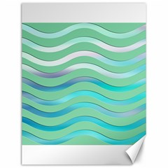 Abstract Digital Waves Background Canvas 12  X 16