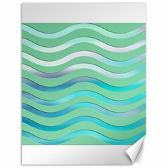 Abstract Digital Waves Background Canvas 18  X 24