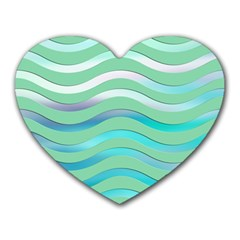 Abstract Digital Waves Background Heart Mousepads