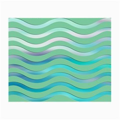 Abstract Digital Waves Background Small Glasses Cloth (2 Side)