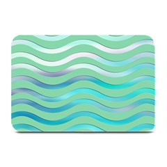 Abstract Digital Waves Background Plate Mats