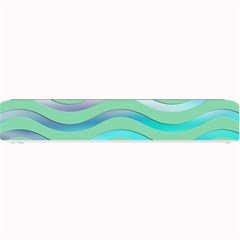 Abstract Digital Waves Background Small Bar Mats