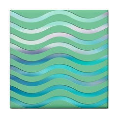 Abstract Digital Waves Background Face Towel