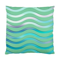 Abstract Digital Waves Background Standard Cushion Case (two Sides)
