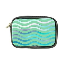 Abstract Digital Waves Background Coin Purse