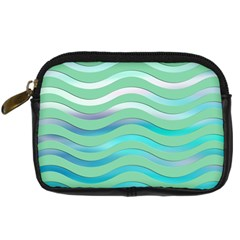 Abstract Digital Waves Background Digital Camera Cases