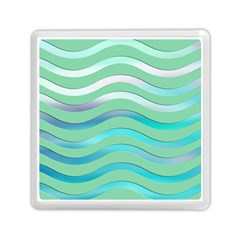 Abstract Digital Waves Background Memory Card Reader (square)