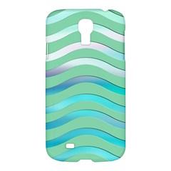 Abstract Digital Waves Background Samsung Galaxy S4 I9500/i9505 Hardshell Case