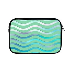Abstract Digital Waves Background Apple Ipad Mini Zipper Cases