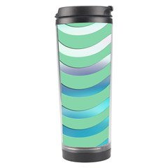 Abstract Digital Waves Background Travel Tumbler