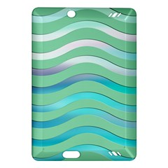 Abstract Digital Waves Background Amazon Kindle Fire Hd (2013) Hardshell Case