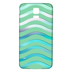 Abstract Digital Waves Background Samsung Galaxy S5 Back Case (white)