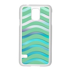 Abstract Digital Waves Background Samsung Galaxy S5 Case (white)