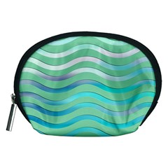 Abstract Digital Waves Background Accessory Pouches (medium)