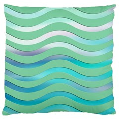 Abstract Digital Waves Background Standard Flano Cushion Case (two Sides)