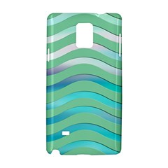 Abstract Digital Waves Background Samsung Galaxy Note 4 Hardshell Case