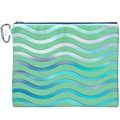 Abstract Digital Waves Background Canvas Cosmetic Bag (xxxl)