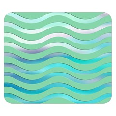 Abstract Digital Waves Background Double Sided Flano Blanket (small)