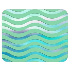 Abstract Digital Waves Background Double Sided Flano Blanket (medium)
