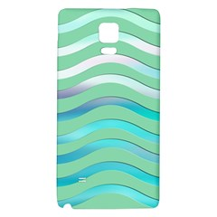 Abstract Digital Waves Background Galaxy Note 4 Back Case