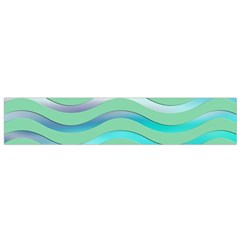 Abstract Digital Waves Background Small Flano Scarf