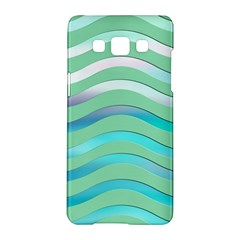 Abstract Digital Waves Background Samsung Galaxy A5 Hardshell Case