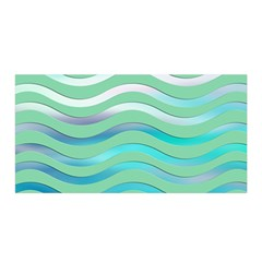 Abstract Digital Waves Background Satin Wrap