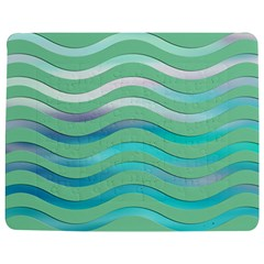 Abstract Digital Waves Background Jigsaw Puzzle Photo Stand (rectangular)