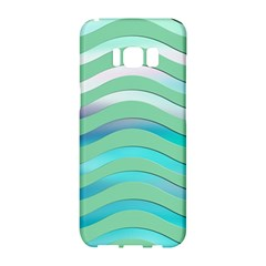Abstract Digital Waves Background Samsung Galaxy S8 Hardshell Case