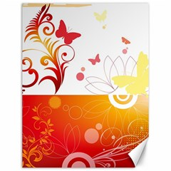 Spring Butterfly Flower Plant Canvas 12  X 16