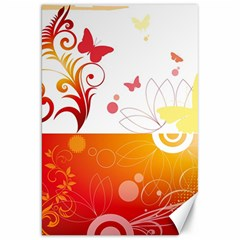 Spring Butterfly Flower Plant Canvas 20  X 30
