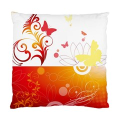 Spring Butterfly Flower Plant Standard Cushion Case (one Side)