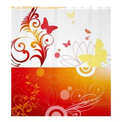 Spring Butterfly Flower Plant Shower Curtain 66  X 72  (large)