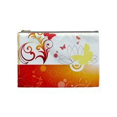 Spring Butterfly Flower Plant Cosmetic Bag (medium)