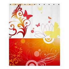 Spring Butterfly Flower Plant Shower Curtain 60  X 72  (medium)