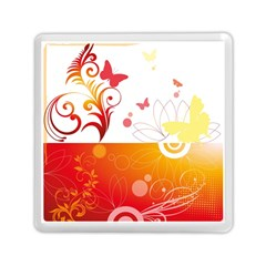 Spring Butterfly Flower Plant Memory Card Reader (square)