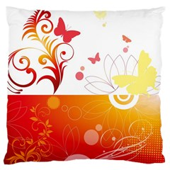 Spring Butterfly Flower Plant Large Cushion Case (two Sides)