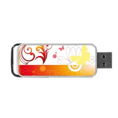 Spring Butterfly Flower Plant Portable Usb Flash (two Sides)