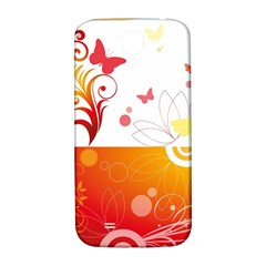 Spring Butterfly Flower Plant Samsung Galaxy S4 I9500/i9505  Hardshell Back Case