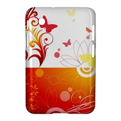 Spring Butterfly Flower Plant Samsung Galaxy Tab 2 (7 ) P3100 Hardshell Case
