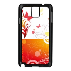 Spring Butterfly Flower Plant Samsung Galaxy Note 3 N9005 Case (black)