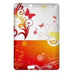 Spring Butterfly Flower Plant Amazon Kindle Fire Hd (2013) Hardshell Case