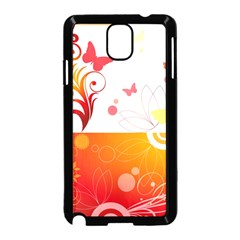 Spring Butterfly Flower Plant Samsung Galaxy Note 3 Neo Hardshell Case (black)