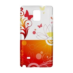 Spring Butterfly Flower Plant Samsung Galaxy Note 4 Hardshell Case