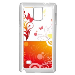 Spring Butterfly Flower Plant Samsung Galaxy Note 4 Case (white)
